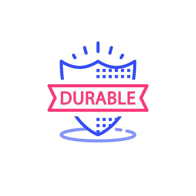 Free Durable Concept, Quality Guarantee, Warranty Shield, Vector Illustration Stock Image - 177906971