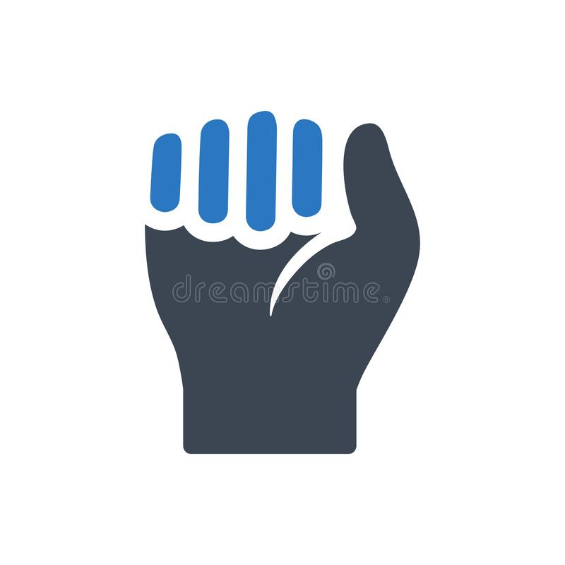Durable hand icon. Meticulously designed Durable hand icon stock illustration