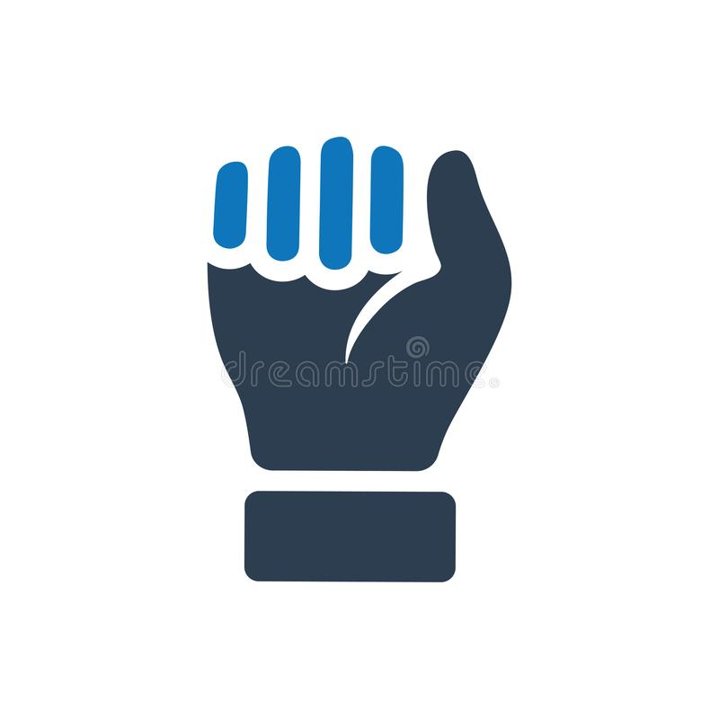 Durable Hand / Power Icon. Durable Hand, Strength, Power Icon stock illustration