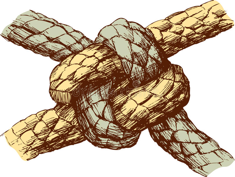 Durable knot. Vector drawing of a durable knot stock illustration