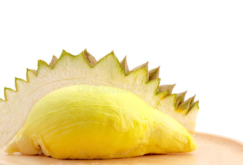 Durain fruit on white background with clipping path. 
