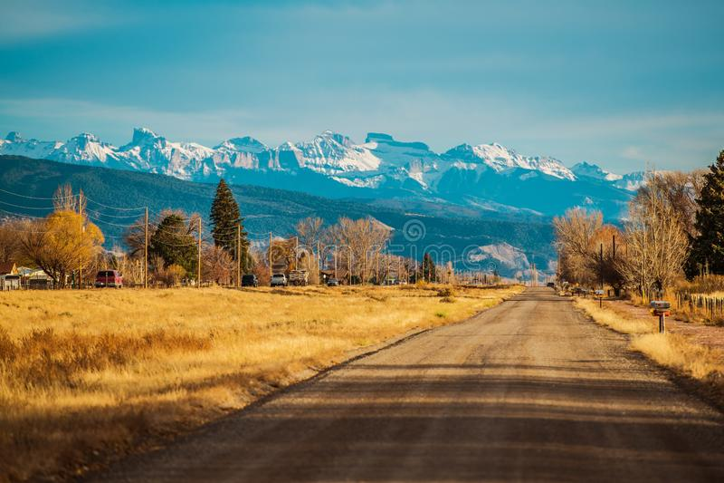 Durango Colorado USA 550 arkivbild