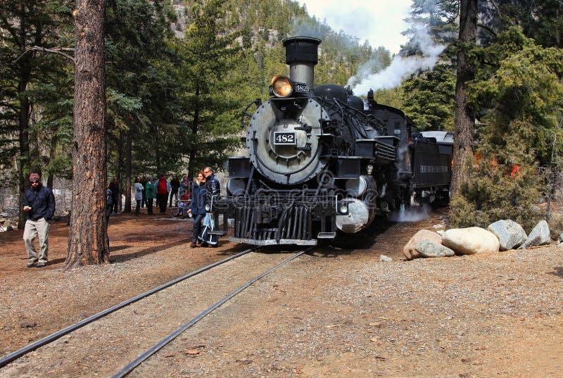 Durango et chemin de fer de Sliverton photo libre de droits