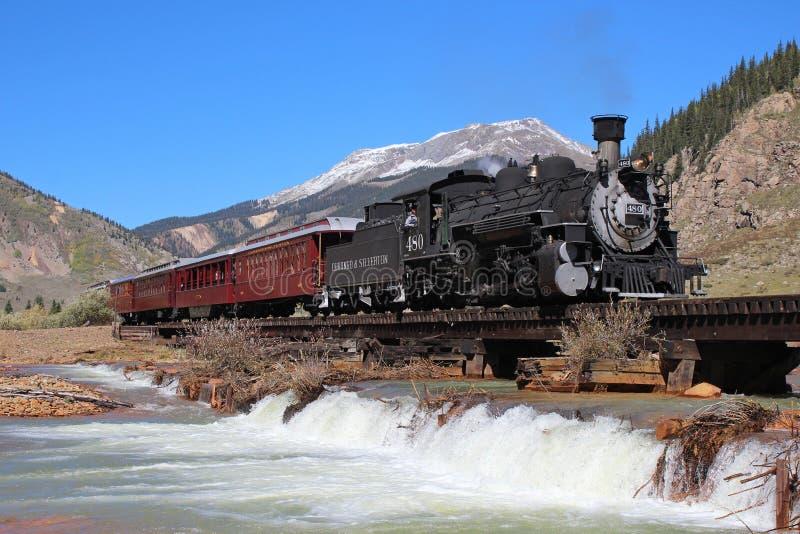 Durango et chemin de fer de mesure étroite de Silverton photos libres de droits