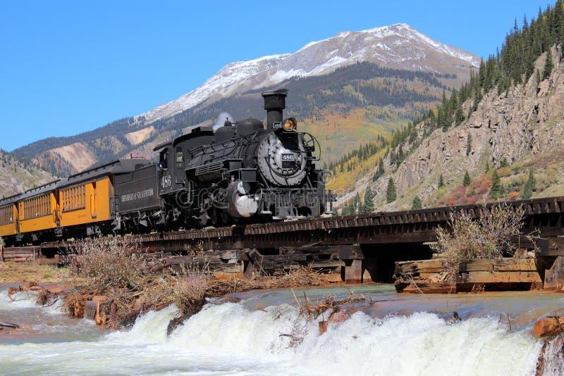 Durango et chemin de fer de mesure étroite de Silverton images stock