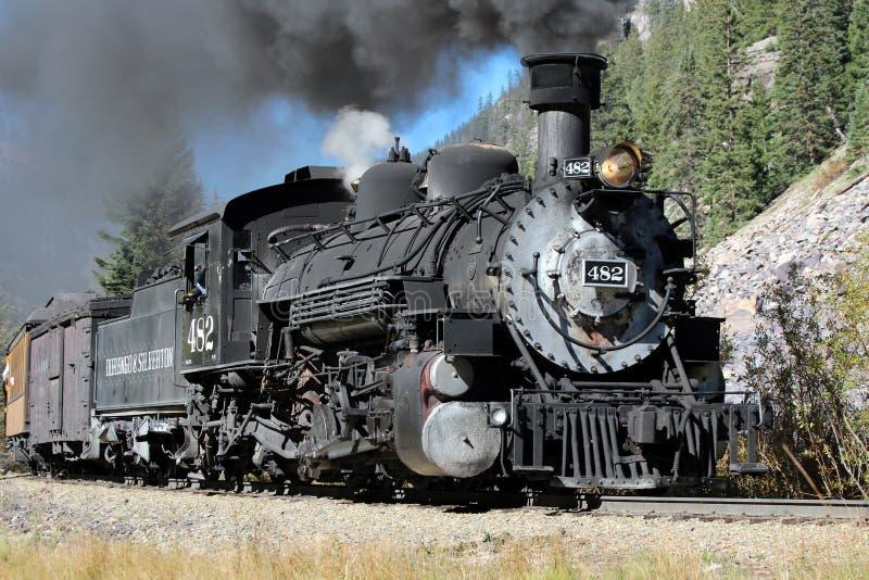 Durango och järnväg Silverton för smalt mått royaltyfri foto