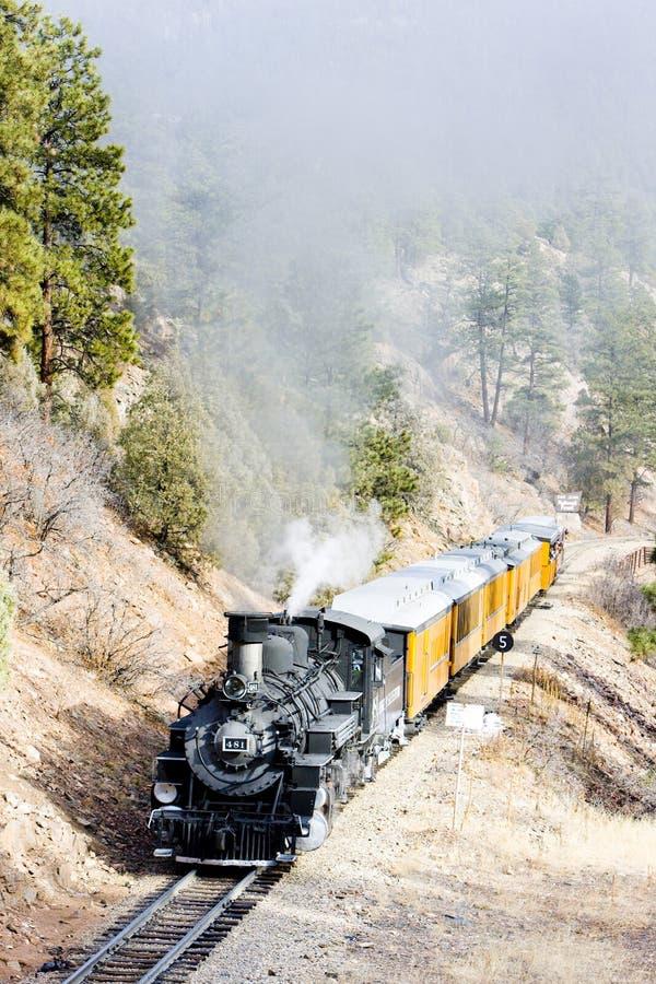 Durango Silverton Narrow Gauge Railroad Colorado, USA royaltyfria foton