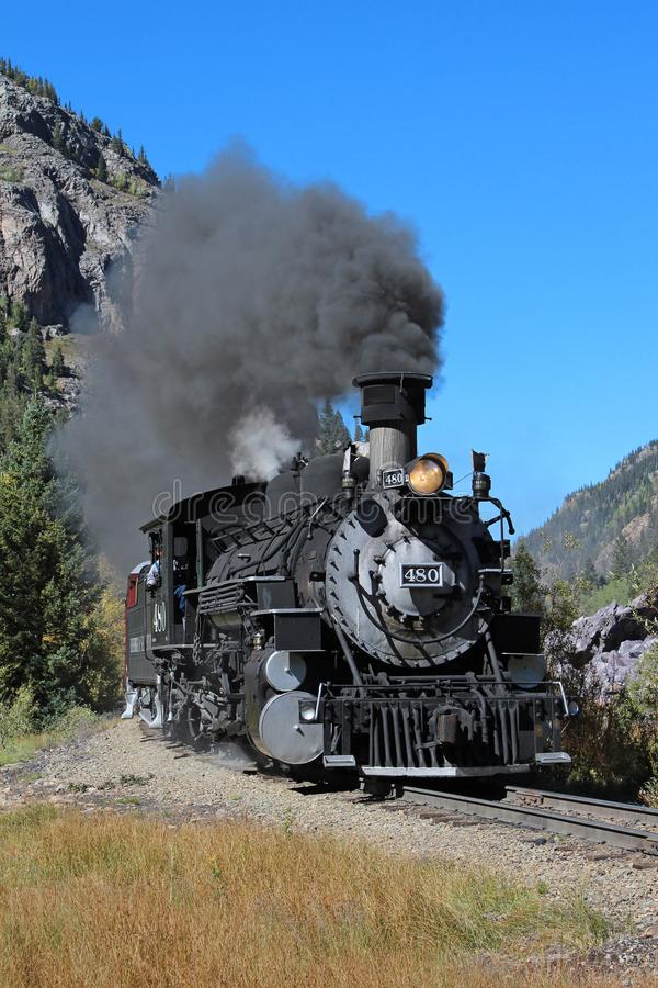 Durango and Silverton Narrow Guage Railroad. The Durango & Silverton Train has been one of the Southwest`s most sought-after tourist attractions for over 130 stock image