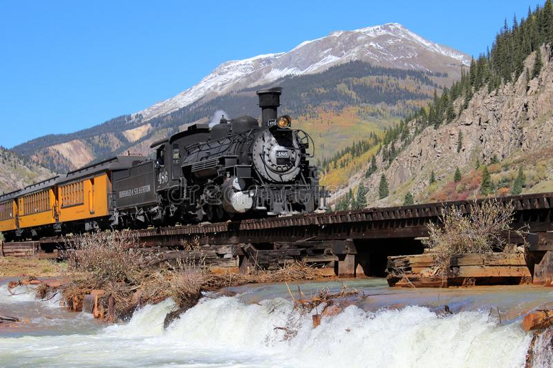 Durango and Silverton Narrow Guage Railroad. The Durango & Silverton Train has been one of the Southwest`s most sought-after tourist attractions for over 130 stock images