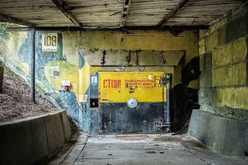 Durante il silo atomico della guerra fredda per le armi nucleari russe immagine stock libera da diritti