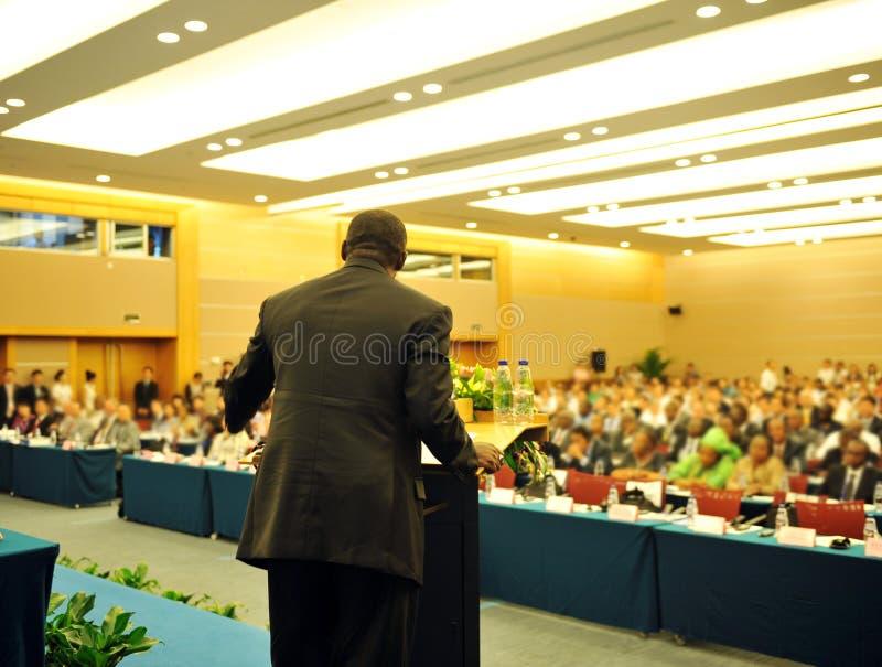 Durante la presentación imagen de archivo libre de regalías