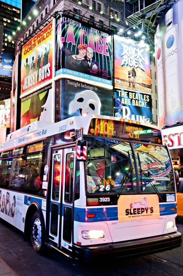 Durata al neon del Times Square a New York City fotografie stock libere da diritti