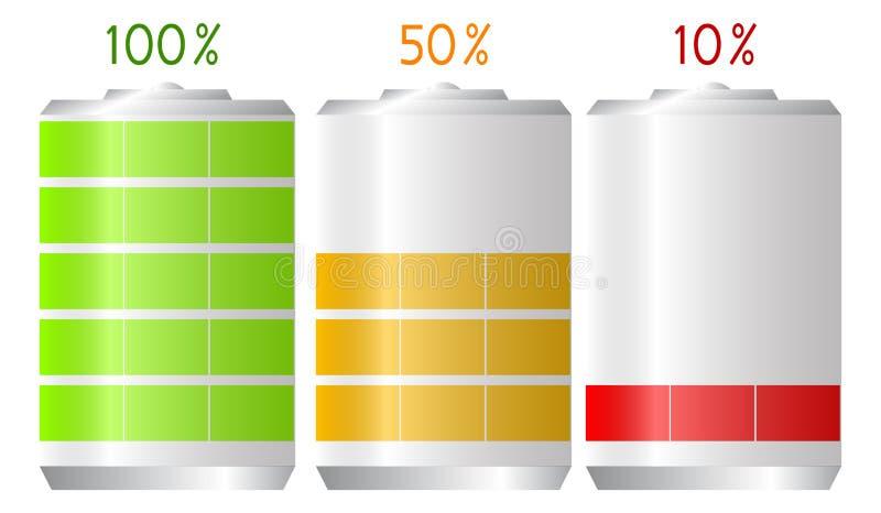 Durata di vita della batteria illustrazione di stock
