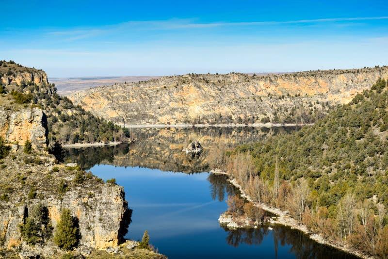 Duraton flodkanjon i Spanien arkivbild