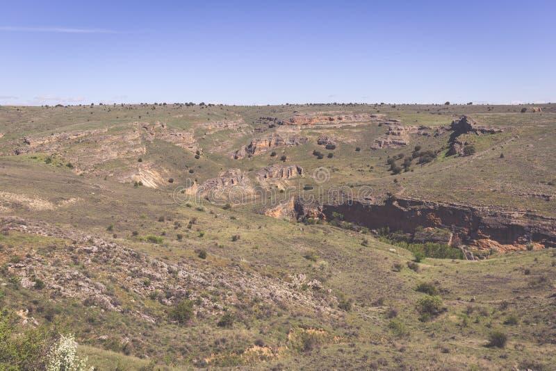 Duraton kanjon och Sepulveda segovia Castilla Leon spain eur fotografering för bildbyråer