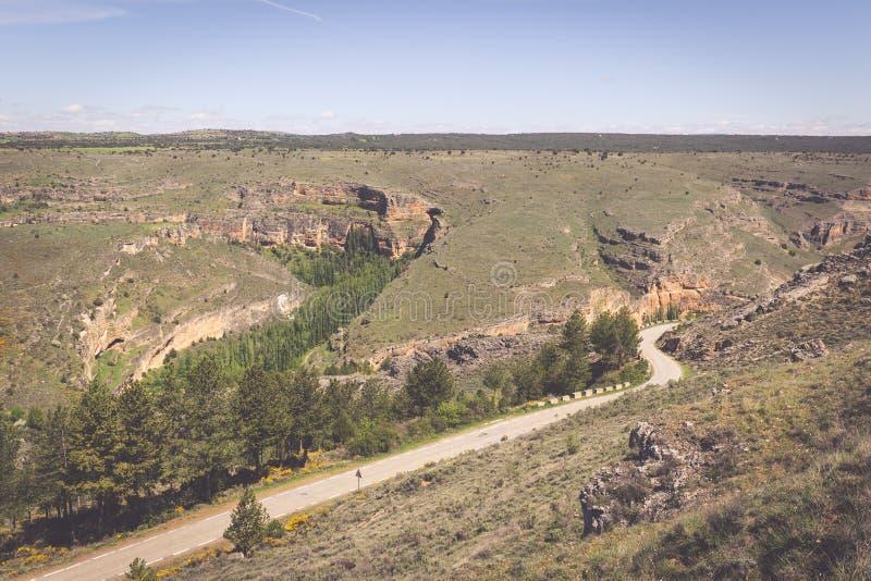 Duraton kanjon och Sepulveda segovia Castilla Leon spain eur royaltyfria bilder