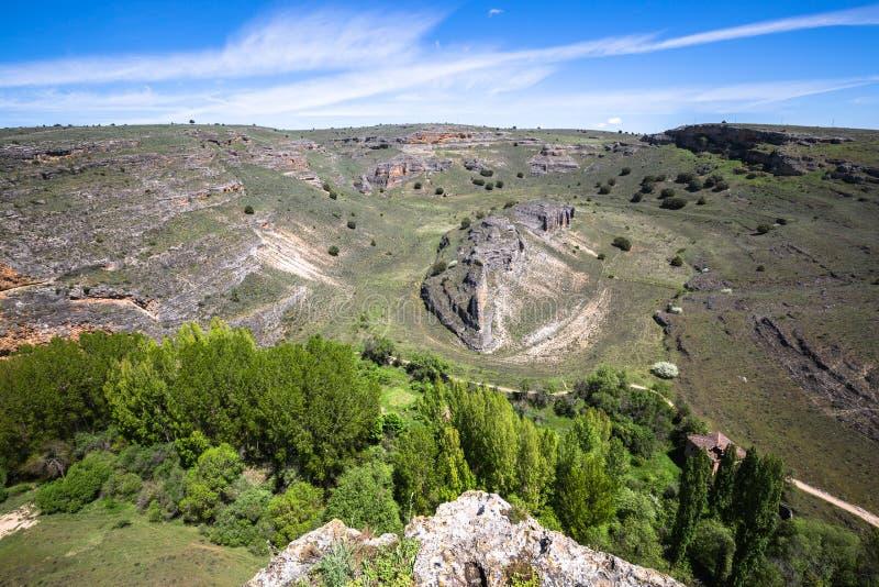 Duraton kanjon och Sepulveda segovia Castilla Leon spain eur royaltyfria foton