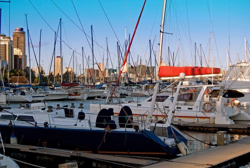 Durban-Bootshafen stockfoto