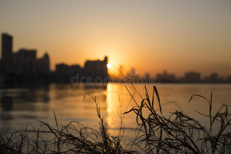Durban City Sunrise stock photography