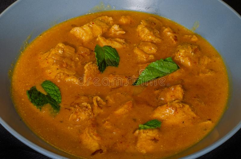 Durban dish: Minty coconut chicken 01 stock photo