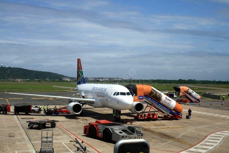 Durban-Flughafen, Südafrika lizenzfreie stockfotografie