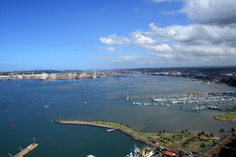 Durban-Hafenüberblicklandschaft lizenzfreie stockfotografie