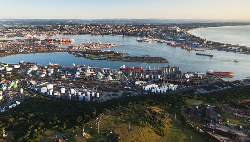 Durban-Hafenantenne lizenzfreie stockbilder