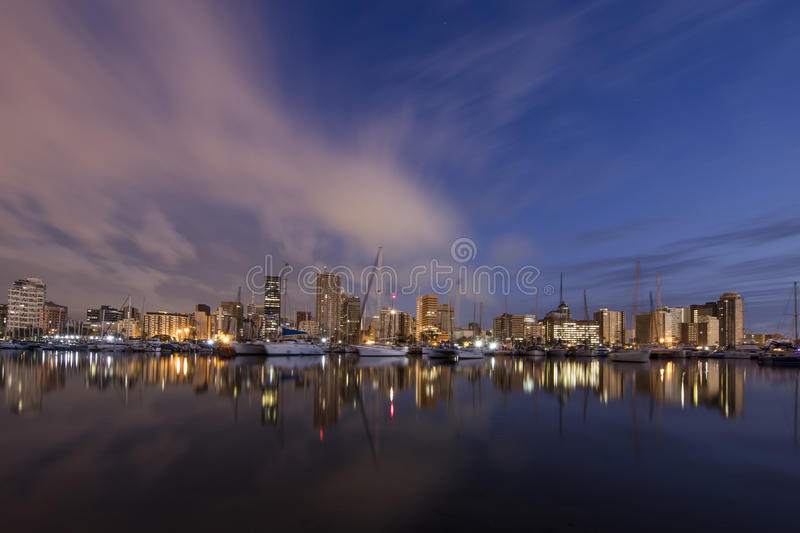 Durban Harbour South Africa. Sunrise shot of Durban Harbour South Africa royalty free stock photography