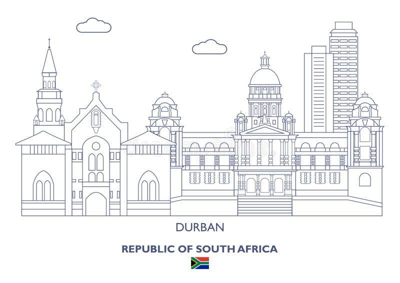 Durban miasta linia horyzontu, Południowa Afryka royalty ilustracja