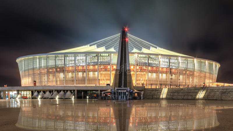 Durban Moses Mabhida Stadium imágenes de archivo libres de regalías