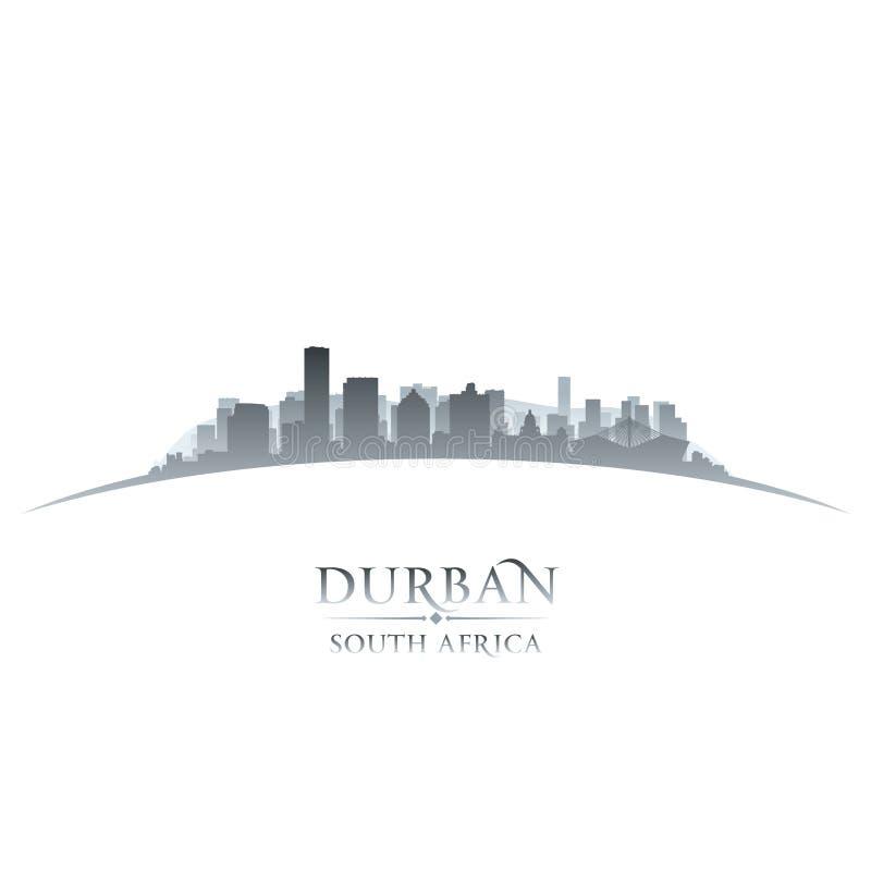 Durban Południowa Afryka miasta linii horyzontu sylwetki bielu tło ilustracja wektor
