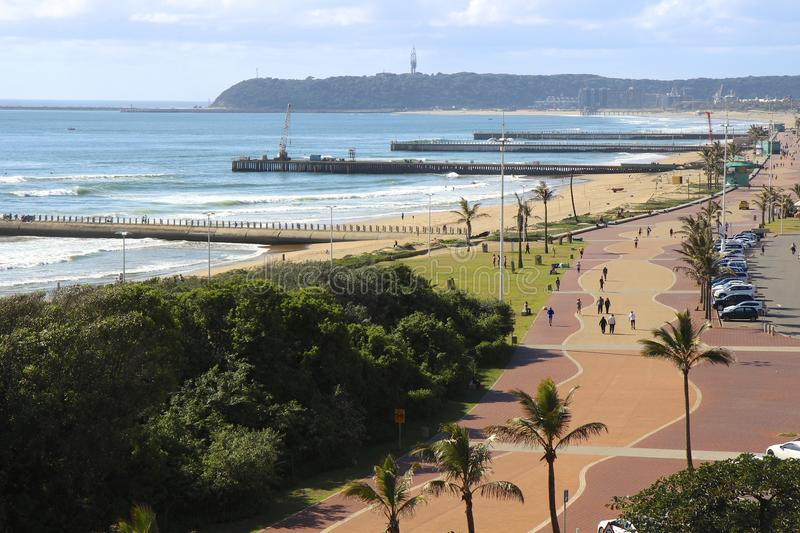 Durban promenade. Popular spot for joggers and walkers in Durban, South Africa royalty free stock photo