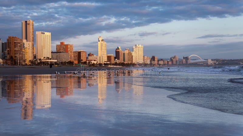Durban South Africa. Beach Sunrise stock images