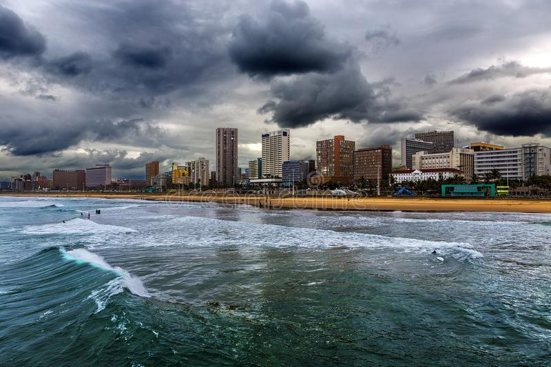 Durban, South Africa. Republic of South Africa. Durban, KwaZulu-Natal. The Golden Mile - Durban`s Beachfront Promenade and coastline stock images