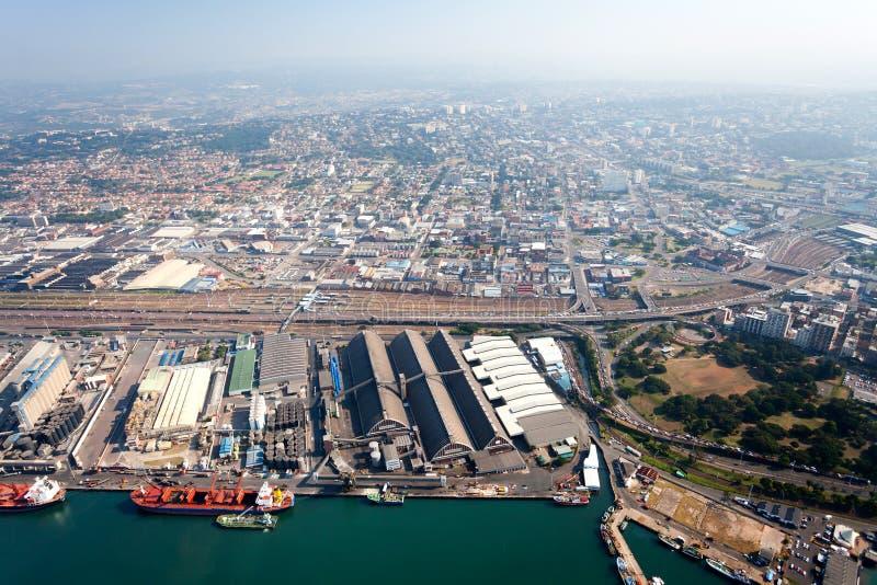 Durban-Stadt im Stadtzentrum gelegen lizenzfreies stockbild