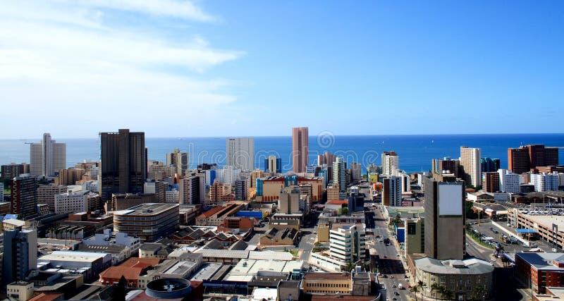 Durban-Stadt-Skyline lizenzfreie stockbilder