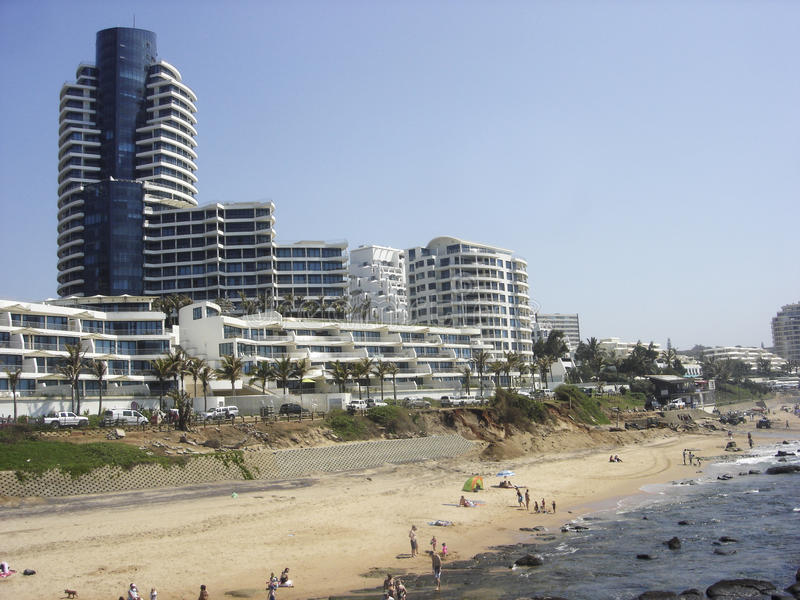 Durban-Strand lizenzfreie stockbilder