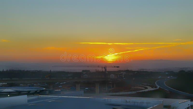Durban zmierzch fotografia royalty free