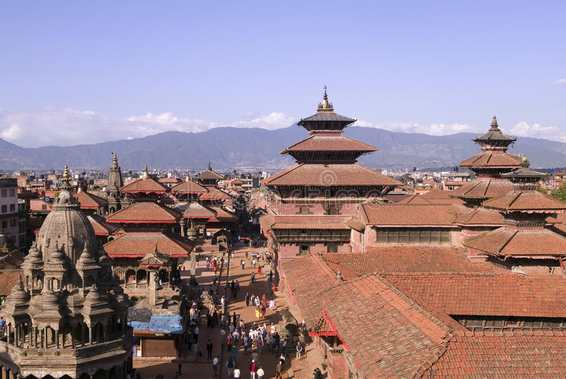 durbar尼泊尔patan squarein 免版税库存图片
