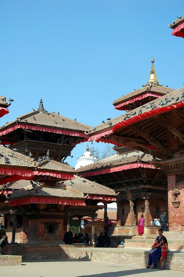Durbar广场在Lalitpur 免版税库存照片
