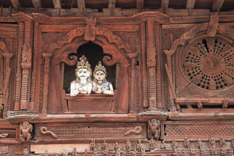 durbar fyrkant för kathmandu nepal parvatishiva arkivbilder