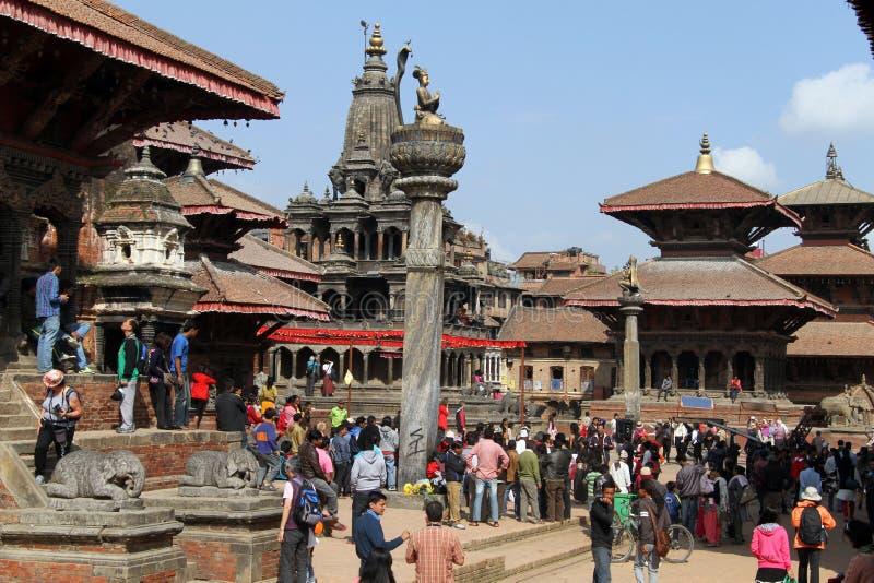 Durbar i Patan royaltyfria bilder