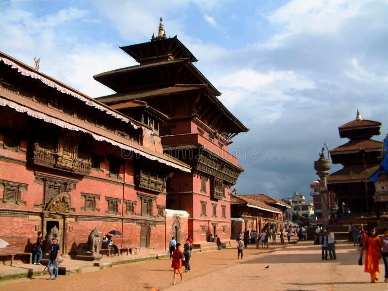 durbar Nepalu lalitpur muzeum square patan obrazy stock