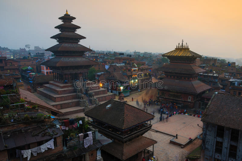 Durbar Squar, Bhaktapur, Непал стоковые фотографии rf