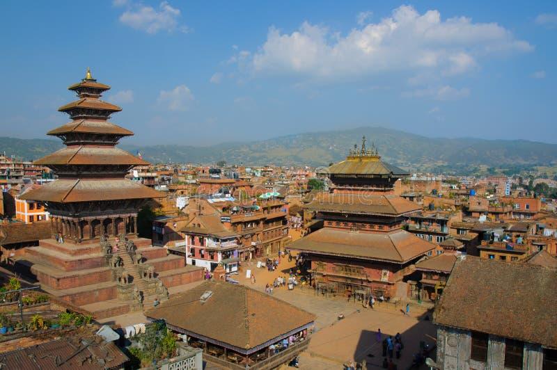 Durbar Squar, Bhaktapur, Nepal fotografering för bildbyråer