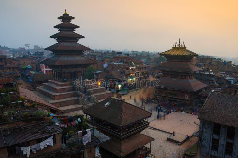 Durbar Squar, Bhaktapur, Nepal fotos de archivo libres de regalías