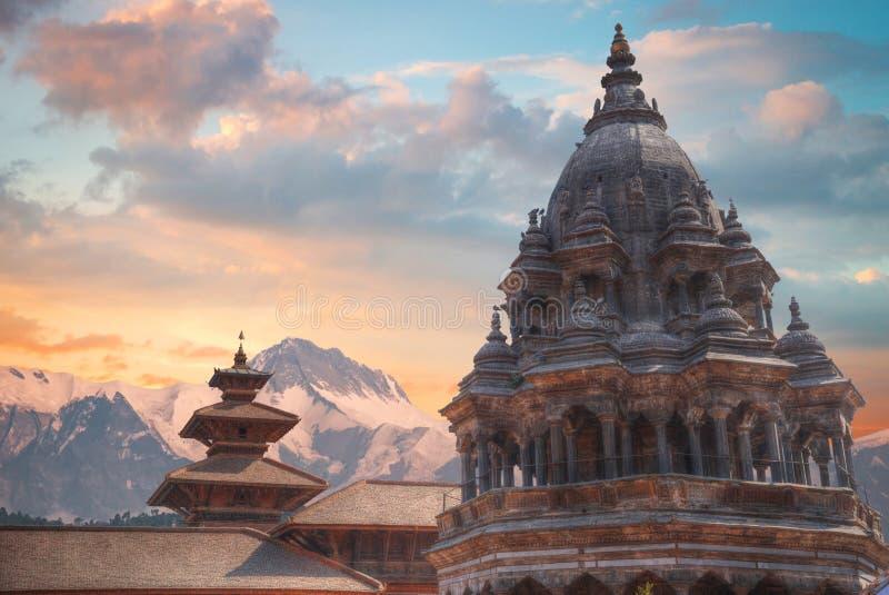 Durbar Square in Bhaktapur. Temples of Durbar Square in Bhaktapur, Kathmandu valey, Nepal royalty free stock photo