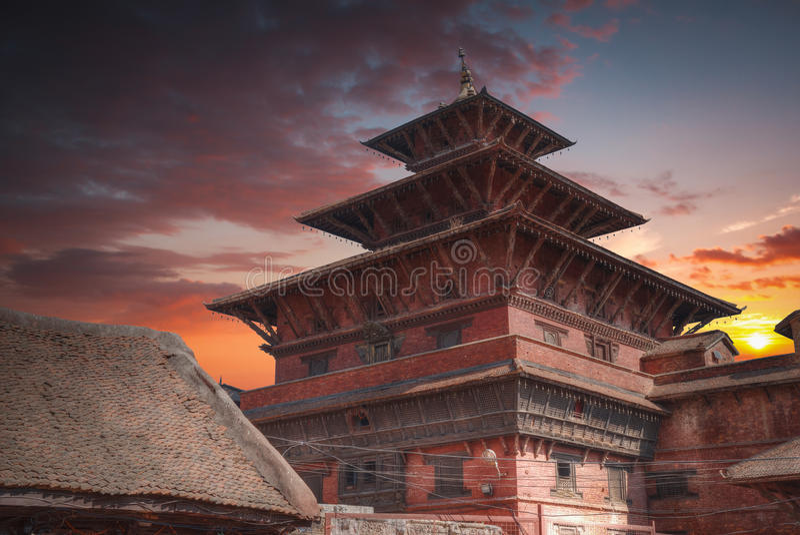 Durbar Square in Bhaktapur. Temples of Durbar Square in Bhaktapur, Kathmandu valey, Nepal stock photography