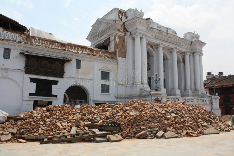 Durbar Square after 2015 Earthquake royalty free stock photography