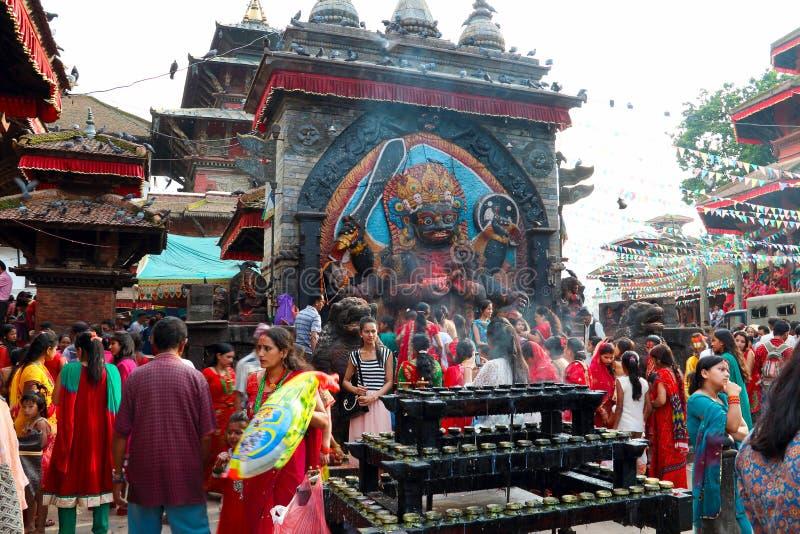 Durbar Square of Kathmandu in the festival stock photo